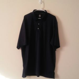 FootJoy 2XL Navy Blue Short Sleeve Polo